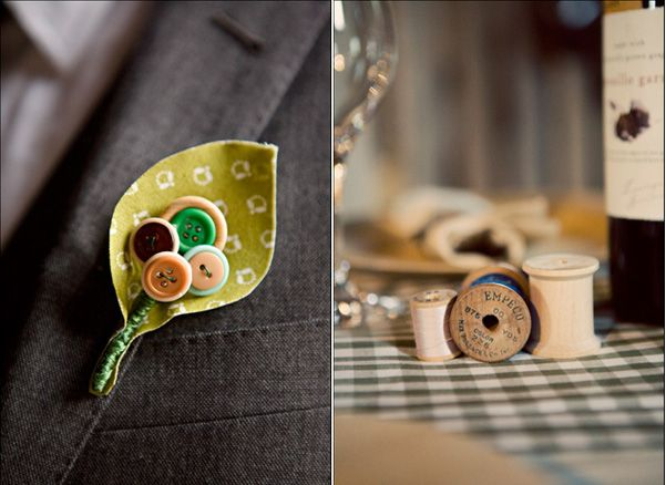 Button Wedding Boutonniere