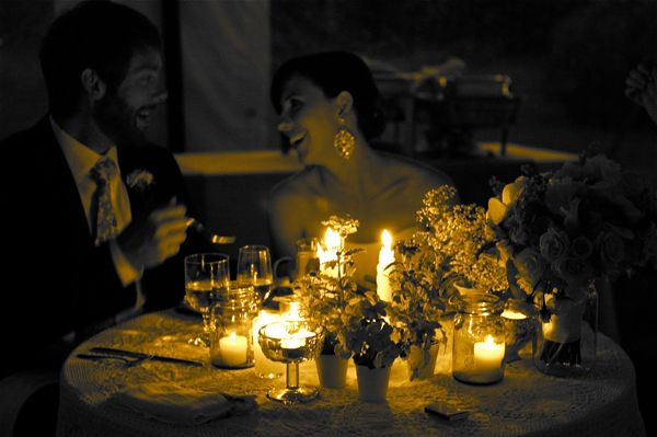 Candlelight Wedding Dinner One thing I fell in love with and used as
