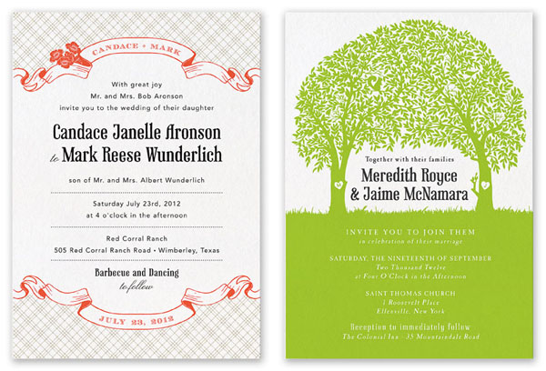 Printable Press Wedding Invites