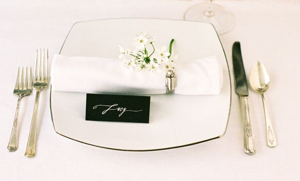 Black Wedding Place Cards