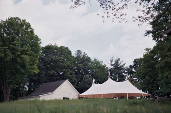 Vintage White Wedding Tent
