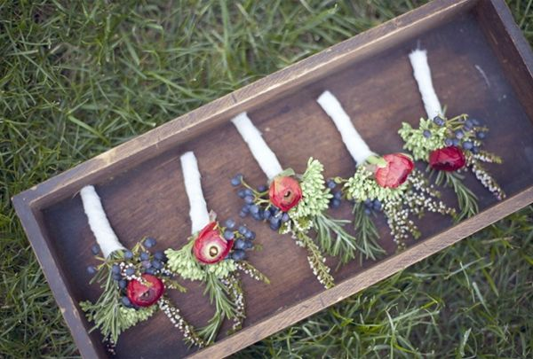 Diy Red Boutonniere