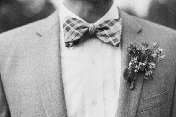 Gingham Wedding Bowtie