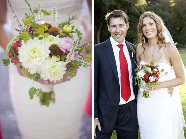 Red Green Wedding Bouquets