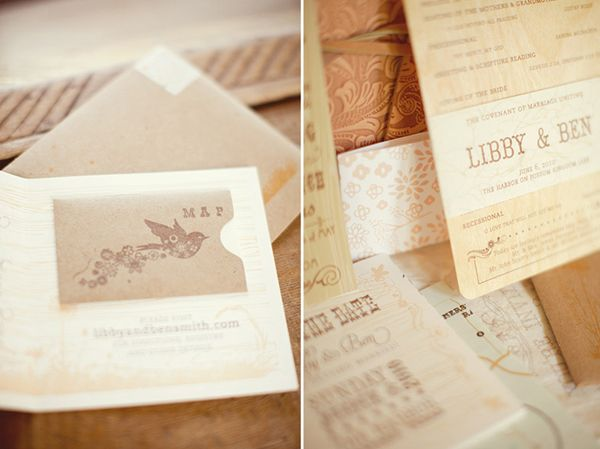 Rustic Wedding Paper Goods