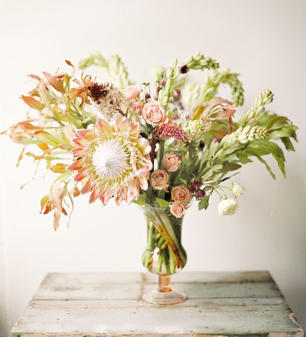 Soft Tropical Wedding Flowers - Once Wed
