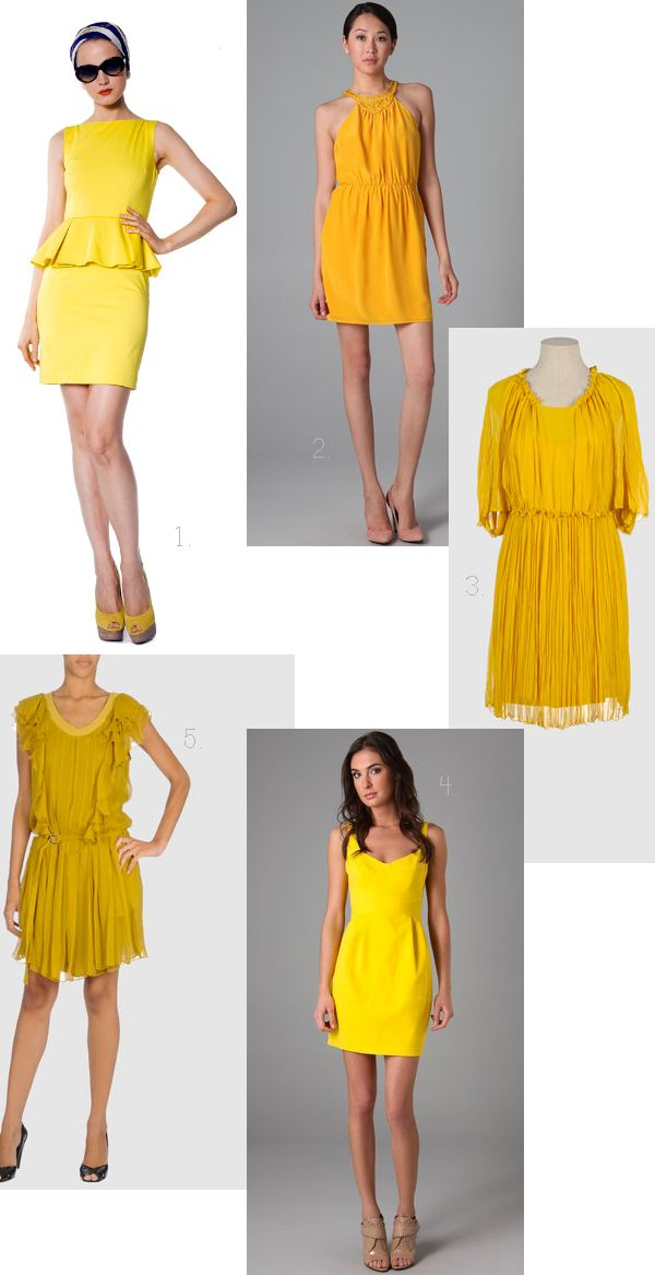 Yellow bridesmaid dress round-up