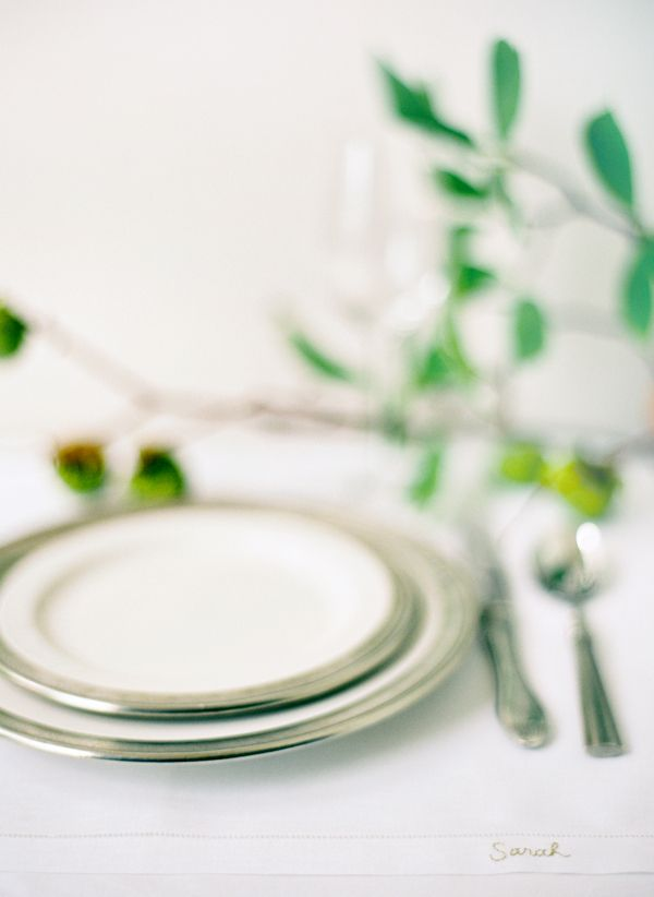 Modern Rustic Table Setting
