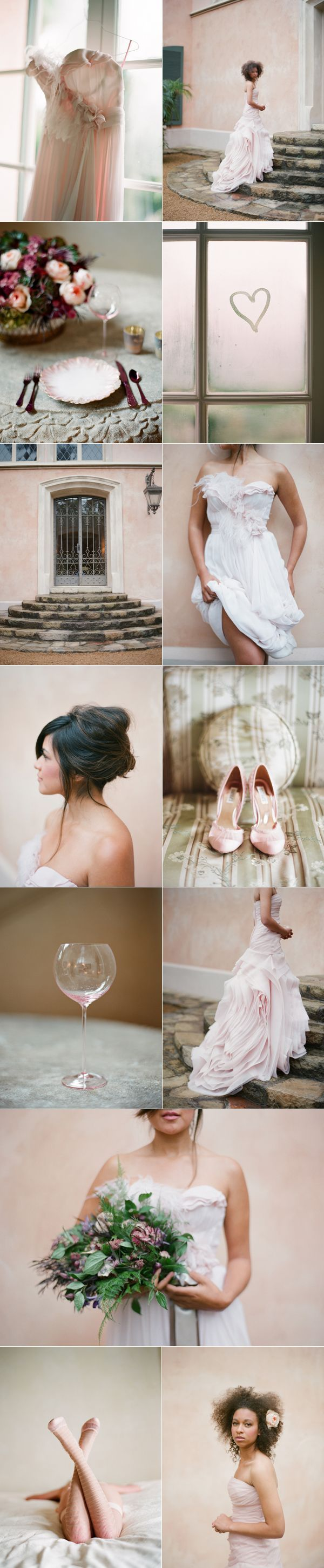 Tinted Wedding Dresses: Blush Pink