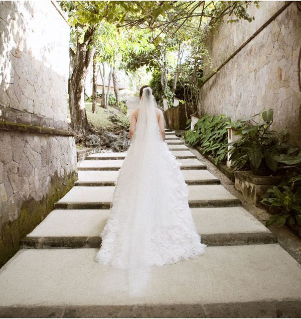 Bali Bride Veil Train