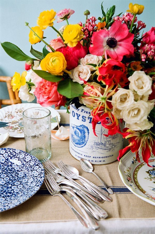 Blue Country Tablescape