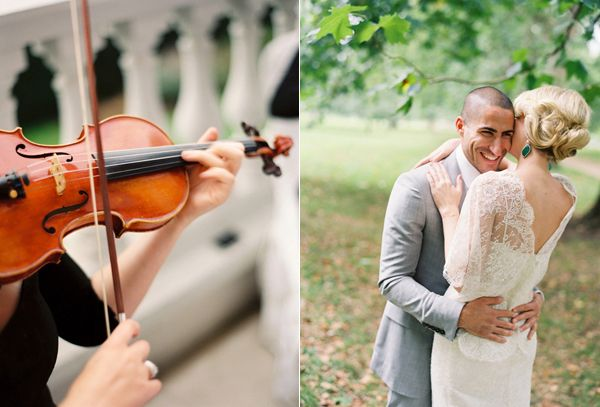 Bride And Groom Violin