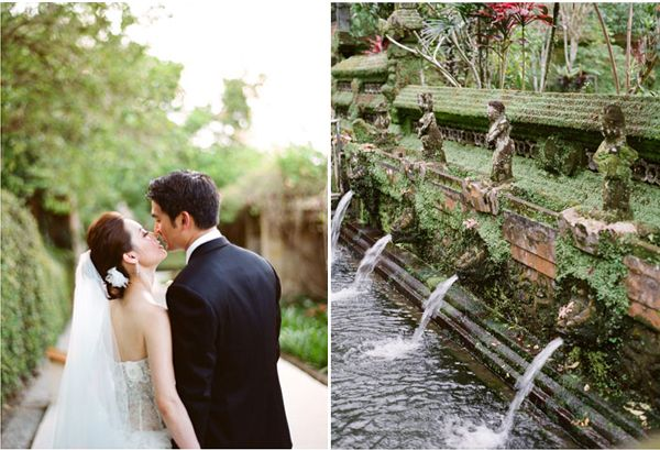 Bride Groom Kiss Fountains