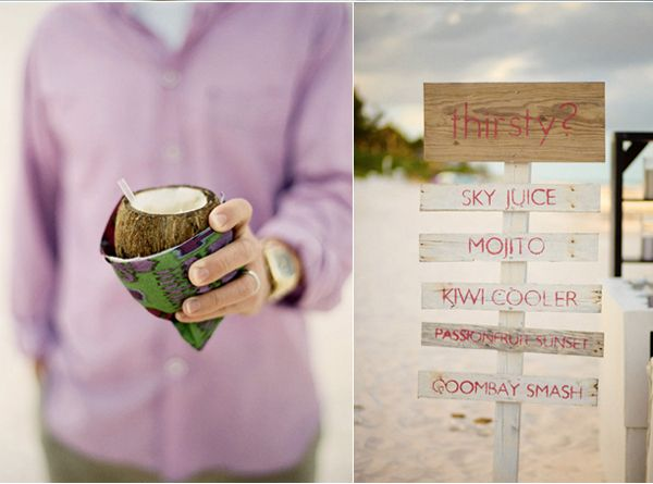 Coconut Drink Sign Beach