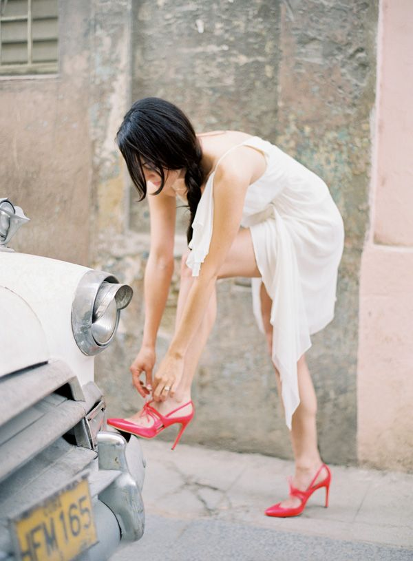 Cuba Bride Red Shoes