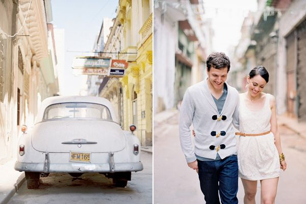 Cuba Vintage Car Couple
