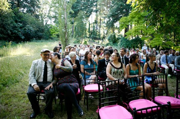 Hot Pink Black Ceremony Decor 2