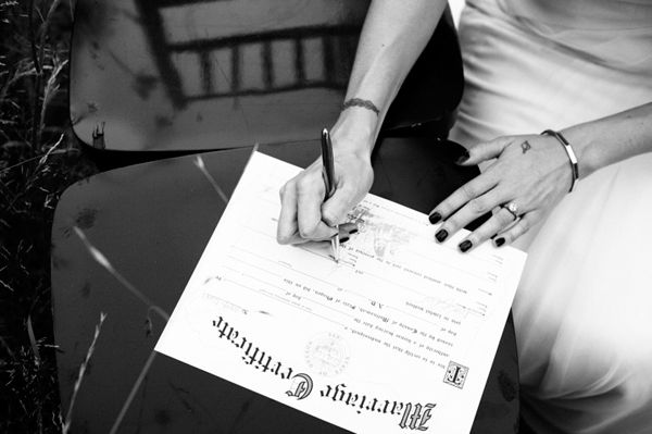 Marriage Certificate Bride