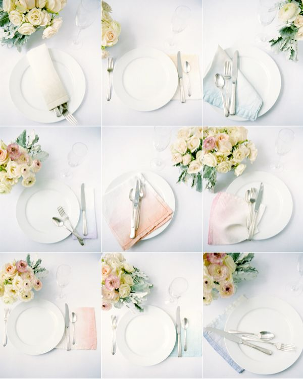 DIY Ombre Wedding Napkins