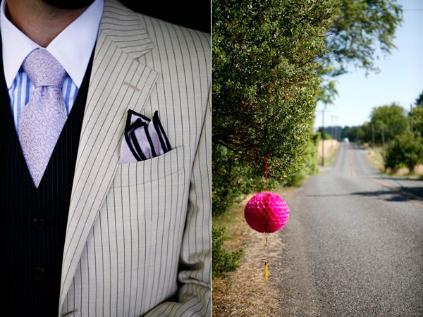 Pinstripe Purple Hot Pink