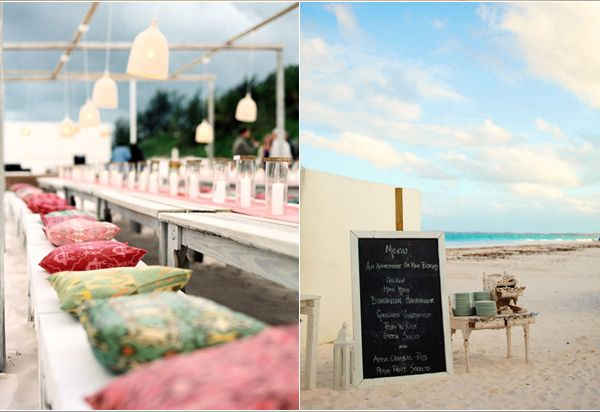 Seating Pillows Reception Beach Menu