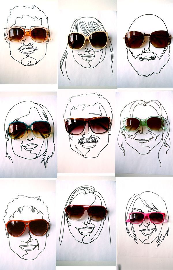 Sunglasses and Sketches as Favors