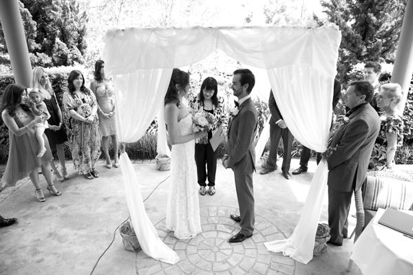 Bride Groom Chuppah