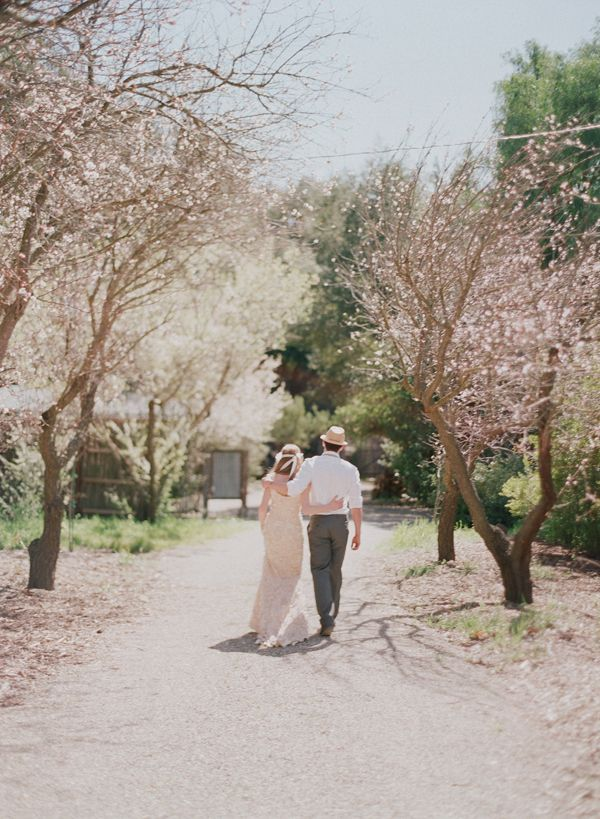 Budding Trees Bride Groom Spring