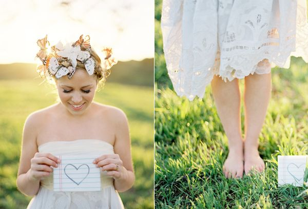 Butterfly Crown White Lace Dress