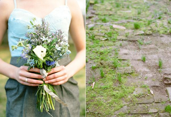 Denim Bridesmaid Blue Bouquet