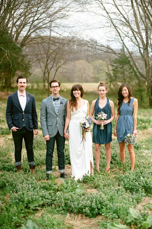 Denim Wedding Party