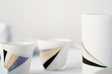 Geometric Paper Wrapped Votives