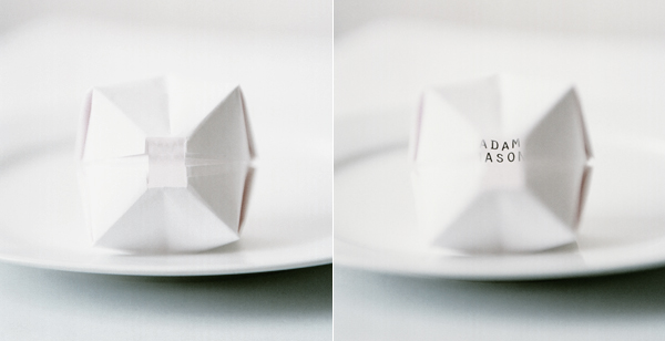 Oragami Paper Balloon Place Cards