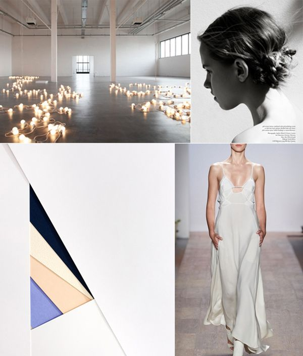 INSPIRATION: Modern Minimalism Wedding