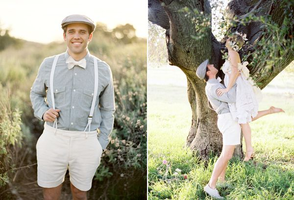 Playful Bride Groom White Shorts