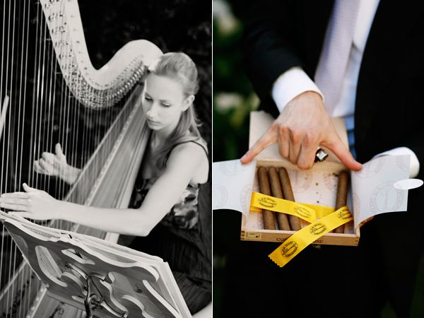 Reception Harpist Cigar Box