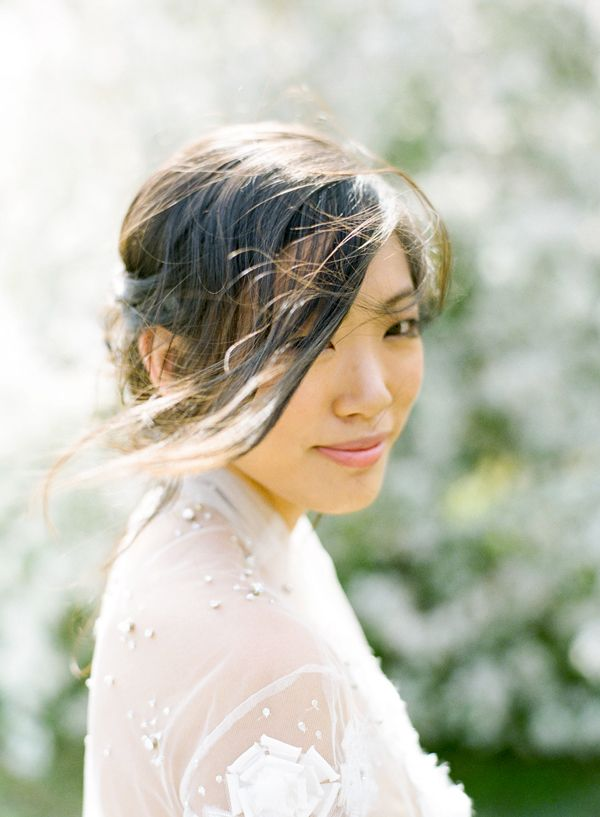 Wispy Updo Soft Bride