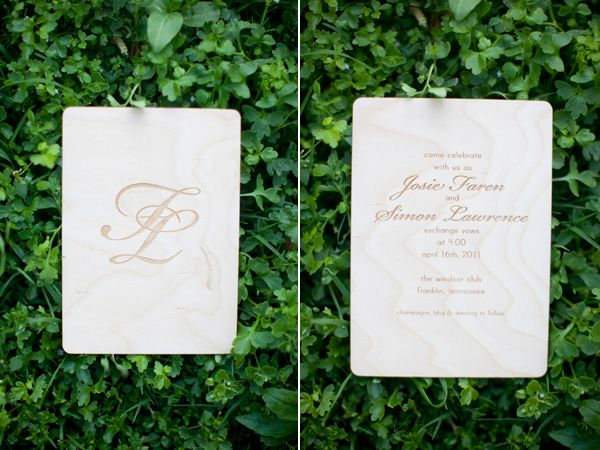 Wooden Laser Cut Wedding Invitation