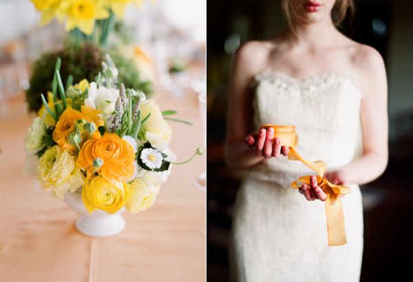 Yellow Centerpiece Ribbon