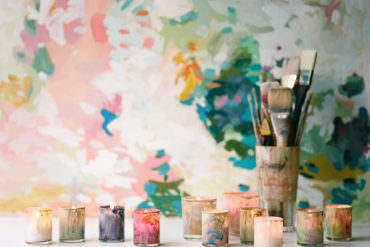 DIY Painted Candleholders Colorful Wedding Ideas