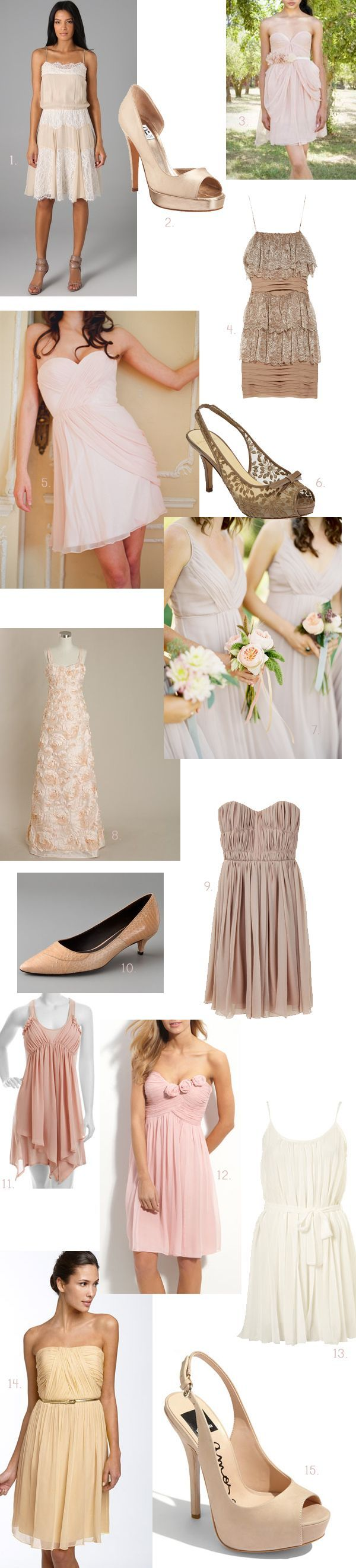 Blush Bridesmaid Dress Round Up