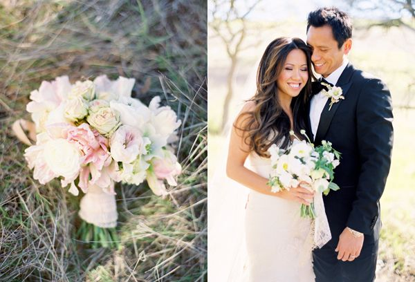 Blush Pink Wedding Bouquet White