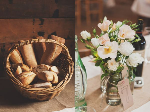 Bread Basket Table Number Centerpiece