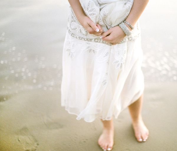 Bride Barefoot Beach Sparkling Water