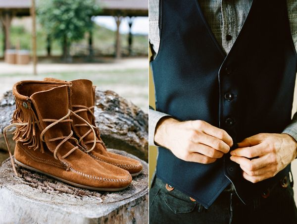Bride Wedding Moccasins Groom Vest
