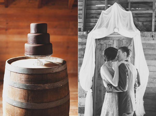Chocolate Cake Wine Barrel Kiss