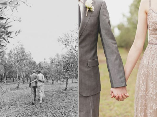 Classic Bride Groom Taupe Olive Grove
