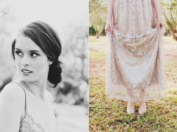 Classic Bride Lace Taupe Dress