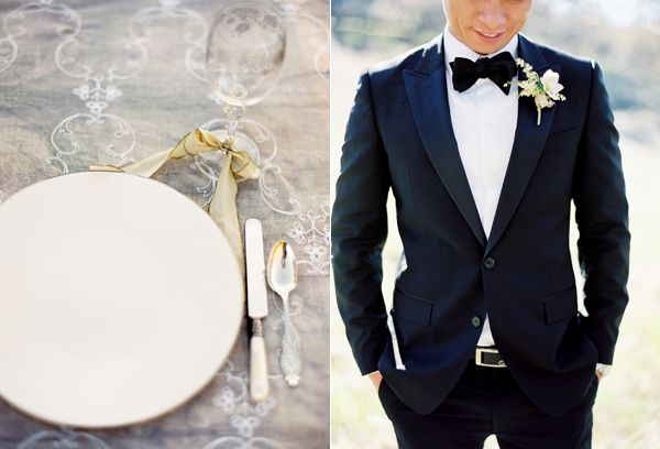 Elegant Reception Setting Groom