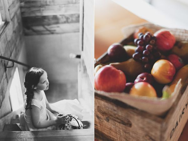 Flower Girl Fruit Crate Reception Ideas